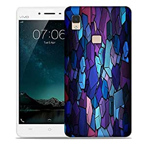 Snoogg Colorful Blocks Designer Protective Phone Back Case Cover For Vivo V3 Max