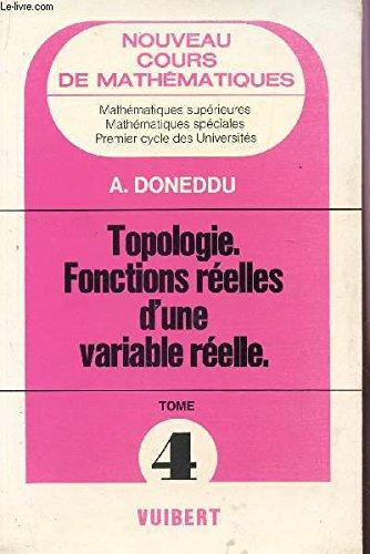 Topologie, fonctions réelles d'une variable réelle