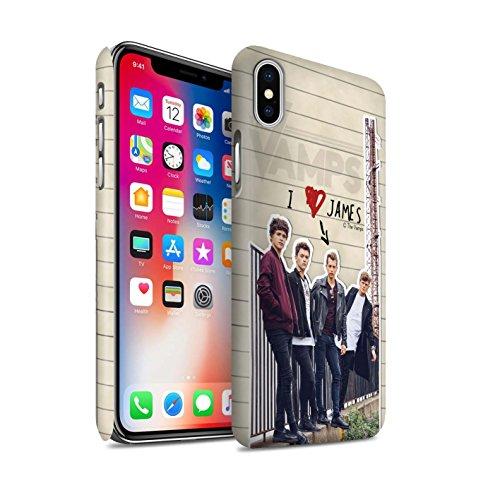 Officiel The Vamps Coque / Clipser Matte Etui pour Apple iPhone X/10 / James Design / The Vamps Journal Secret Collection James