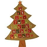 Takefuns Kreativer hängender Adventskalender Countdown bis Weihnachtsbaum, kreativer hängender Adventskalender Countdown bis Weihnachtsbaum