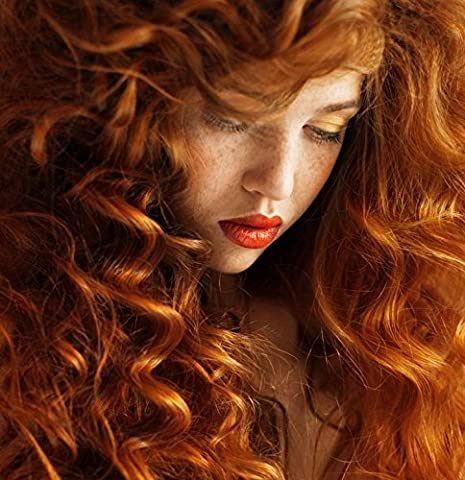 EXTRA GLAMOUROUS ONE PIECE HAIR EXTENSION EXTRA LONG WAVY CURLS IN GINGER