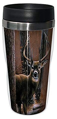 Tree Free sans 77000 16 oz Acier Inox Woodland Sentry Buck Collection Art N Sip Gobelet de voyage