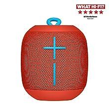 Ultimate Ears Wonderboom Altoparlante Wireless Bluetooth, Resistente agli Urti e Impermeabile con Connessione Doppia, Rosso
