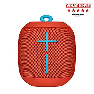 Ultimate Ears Wonderboom Portable Wireless Bluetooth Speaker, Thundering Bass, 360 Sound, Waterproof, Connect Two Speakers for Loud Hi-Fi, 10 Hour Battery Life, 100 ft Range - Fireball Red (B06VWH9S58) | Amazon price tracker / tracking, Amazon price history charts, Amazon price watches, Amazon price drop alerts