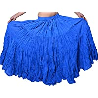 Wevez Falda de algodón para mujer, estilo tribal gitano, danza del vientre, de algodón, 10 m