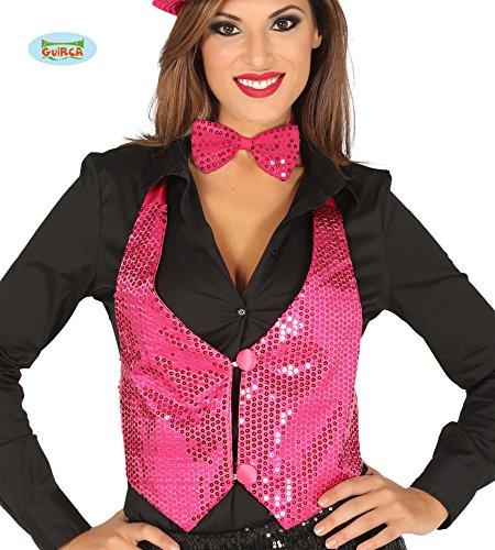 (pink Pailletten Weste für Damen Karneval Fasching Silvester Party Gr. M/L …)