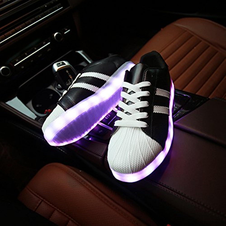 NGRDX&G Mujeres Luminous Sneakers Para Los Amantes De Los Zapatos Con Usb De Carga De Colores Mujeres Multi-Sty...