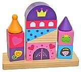Tooky Toy TKB494 Schloss Steckspiel Holzspielzeug mit süßen Motiven - Kleinkind Steckspielzeug
