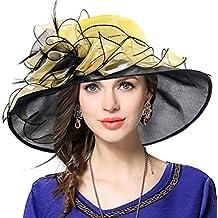 Mujeres Organza Church Derby Fascinator Sombrero Nupcial Boda Pamelas b4c96ab3ca1