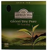 Ahmad Tea - Green Tea Pure   Grüner Tee   100 Teebeutel á 2 g mit Band und aromaversiegelt in Folie verpackt