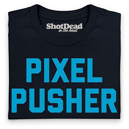Pixel Pusher T-Shirt, Damen Schwarz