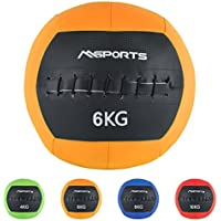 Msports Wall-Ball Premium Gewichtsball 2-10 kg in Verschiedenen Farben   Medizinball