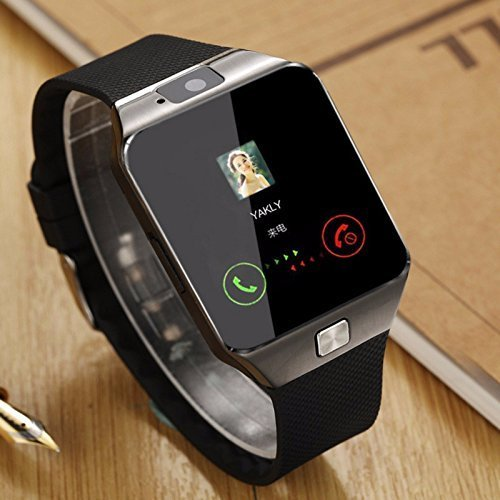 Smartron t.phone Compatible Certified Bluetooth DZ09 Smart Watch Wrist Watch Phone with Camera & SIM Card Support (1 Year Warranty)