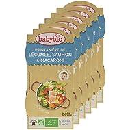 Babybio Bols Printanière de Légumes/Saumon/Macaroni 2x200 g - Lot de 6