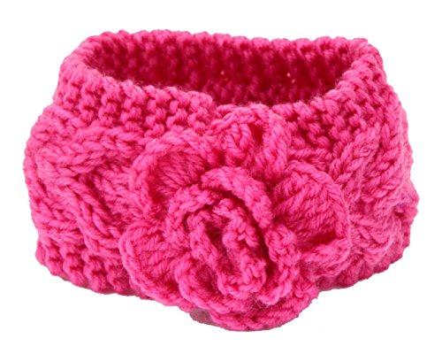 Butterme Baby-Mädchen Blumen Hairband Stricken Häkeln Stirnband gestrickt Headwrap Ohr wärmen Headwear Stirnband Haarschmuck