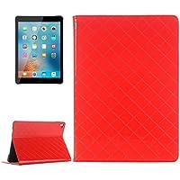 Tavoletta Custodie & Cover, Per iPad Pro griglia di 9.7 pollici di struttura orizzontale di caso di vibrazione del cuoio di colore solido con fessure per carta &supporto e portafoglio ( Colore : Rosso )