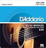 D'Addario EJ11 Set Corde Acustica EJ 80/20 BRZ RND WND