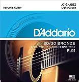 DAddario EJ11 Bronze Satz Akustikgitarren-Saiten Light 012 - 053