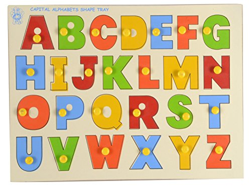 Skillofun Wooden Capital Abc Shape Tray with Knobs - Buy Online in