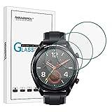 NEWZEROL Ersatz für Huawei Watch GT / GT Active Panzerglas Schutzfolie , [4 Pack] (46 mm) 2.5D Arc Edges 9H Glas Bildschirmschutz Anti-Kratzer blasenfrei Schutzfolie - [Lebenslange Ersatzgarantie]