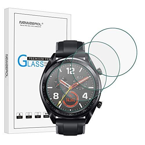 NEWZEROL 4 Pcs per Huawei Watch GT/GT Active Pellicola Protettiva (Dimensioni Ottimizzate)2.5D Arc Edge 9 Durezza Protezione Dello...