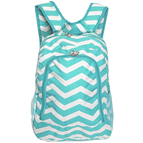 SilverHooks, Daypack, Chevron - Light Blue & Women's White (blau) - 81BP5016-165LT/W (Light Blue Chevron)