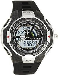 Vizion Black Dial Analog-Digital Dual Time GREYShade Watch For Men-8006016AD-2