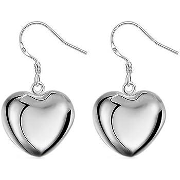 Hosaire Ohrringe Mode Kreativ Heart-form Damen Ohrring 1 Paar