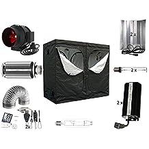 Growbox komplett Set Pro 2 x 600 W dimmbar NDL + MH 240x120x200 cm