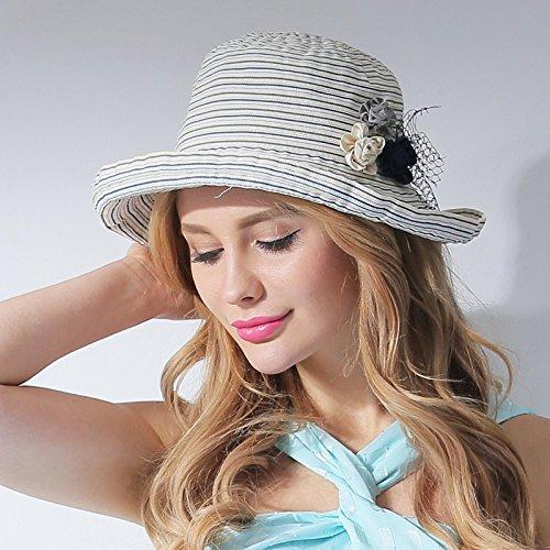 LLZTYM Female/Summer/Sunshade Cap/Curl Cap/Sunscreen/Sunscreen/Sunshade/Suncap/Cap/Headwear/Gift/Hat Beige