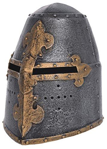 tterhelm für Kinder. Kreuzfahrerhelm. Kostümaccessoire. Spielhelm (Kind Mittelalterlichen Ritter Kostüm)