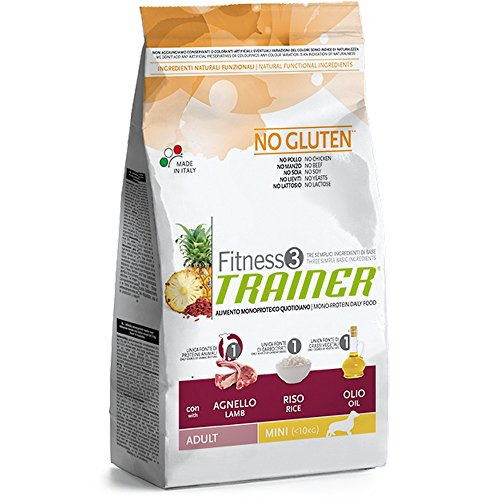 Trainer Fitness 3 No Gluten Mini con Agnello Riso e Olio 2kg
