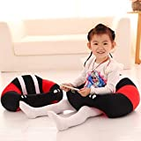 Baby Soft Plush Cushion Cotton Sofa Seat Infant Safety Car Chair Learn To Sit Stool Training Kids Support Sitting For Dining (RED & Black)