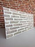 Wandverkleidung in Steinoptik für Schlafzimmer, Wohnzimmer, Küche und Terrasse in Klinkeroptik Look. (ST 352-106)