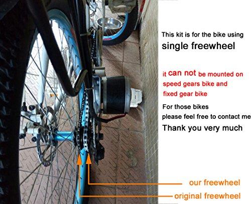 250w spazzola elettrica motore per bicicletta elettrica acceleratore con chiave interruttore e batteria di voltaggio semplice motore kit per il bricolage e-bike - 4