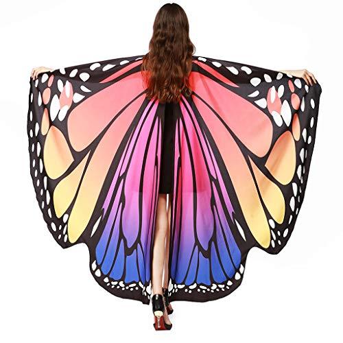 Amphia - Schmetterling Flügel Schal Schals,Frauen-Schmetterlingsflügel-Schal-Schal-Damen-Nymphen-Elf-Poncho-Kostüm-Zusatz