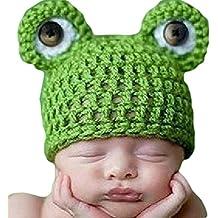Viskey–Manoplas para bebé recién nacido Gorro y Bufanda de punto para bebé
