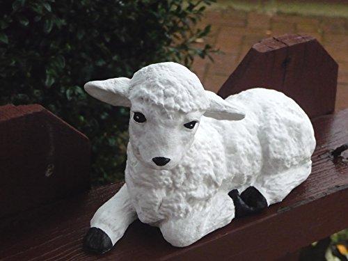 Mehrholz Steinfigur Schaf weiß Lamm klein