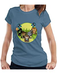 Wizard of Oz Dorothy And Friends Yellow Brick Road Women's T-Shirt