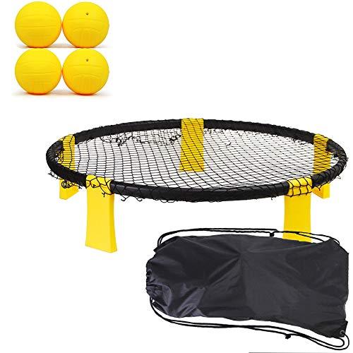 O RLY 4 Bälle Set Unisex Combo Meal Kit- Outdoor-Sportarten Beach Ball Spiel 4 Ball Set Roundnet Spiel Hinterhof Garten