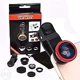 #7: FleejostTM Universal 3 in 1 Cell Phone Camera Lens Kit - Fish Eye Lens / 2 in 1 Macro Lens & Wide Angle Lens / Universal Clip (Multicolor)