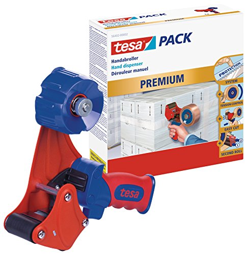 tesa Packband Handabroller, Profi Modell für Rollen bis 66m x 50mm