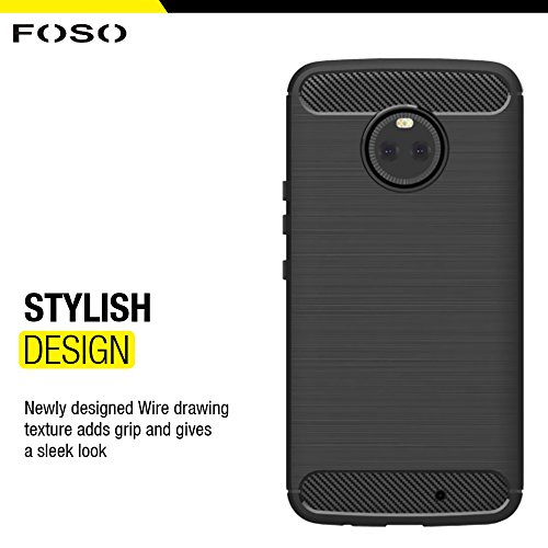 FOSO(™) Sandstone Matte Slim & Quicksand Flexible TPU Back Cover Case For Moto X4