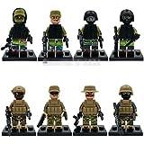 SWAT nosotros marina + ruso speztnaz Sputnik fuerzas Minifiguras + armas