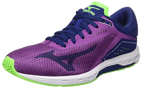 Mizuno Wave Sonic Wos, Zapatillas de Running Para Mujer, Multicolor (Hyacinthviolet/Blueprint/Greengecko), 38.5 EU