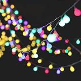 Denknova® LED Globe Lichterkette Innen Deko Glühbirne 10 Meter 100er LEDs DC 31V strombetrieben Stimmungsbeleuchtung Lichter für Feste, Weihnachten, Partys und Hochzeit / äußere Dekoration (Bunt)