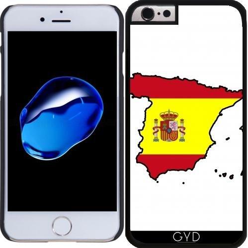 Coque pour Iphone 6 Plus (5,5'') - Carte De Drapeau De L'Espagne by Cadellin Plastique Rigide