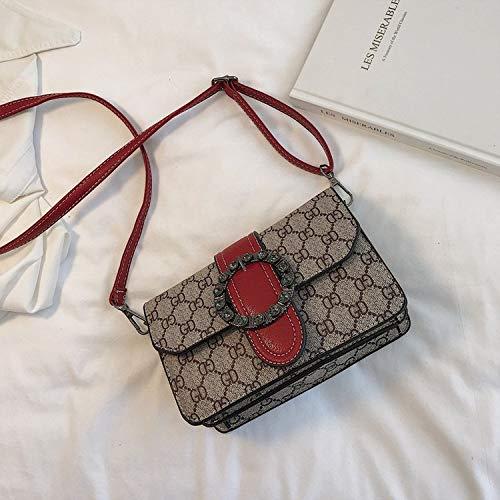 LFGCL Bags womenPrinted alte Blume Umhängetasche Farbe Mode einzelne Schulter Clutch Bag, rot - West-clutch-handtasche