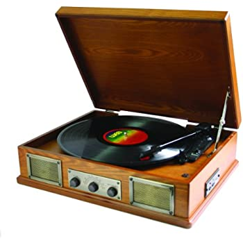 Steepletone Usb Norwich Retro Record Player With Radio And