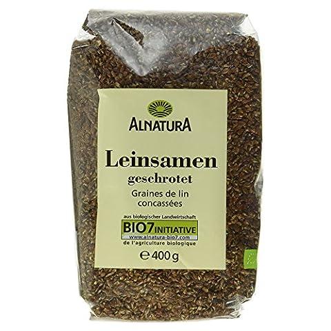Alnatura Bio Leinsamen, geschrotet, 6er Pack (6 x 400 g) (Leinsamen Geschrotet)